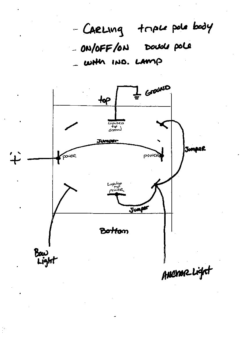 carling rocker switches lt 2561 lighted tip toggle switch wiring for navigation lights similar to diagram above