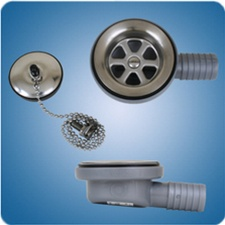 90 Degree Low Profile Shower Drain.Sink Drains For Marine And Rv Applications
